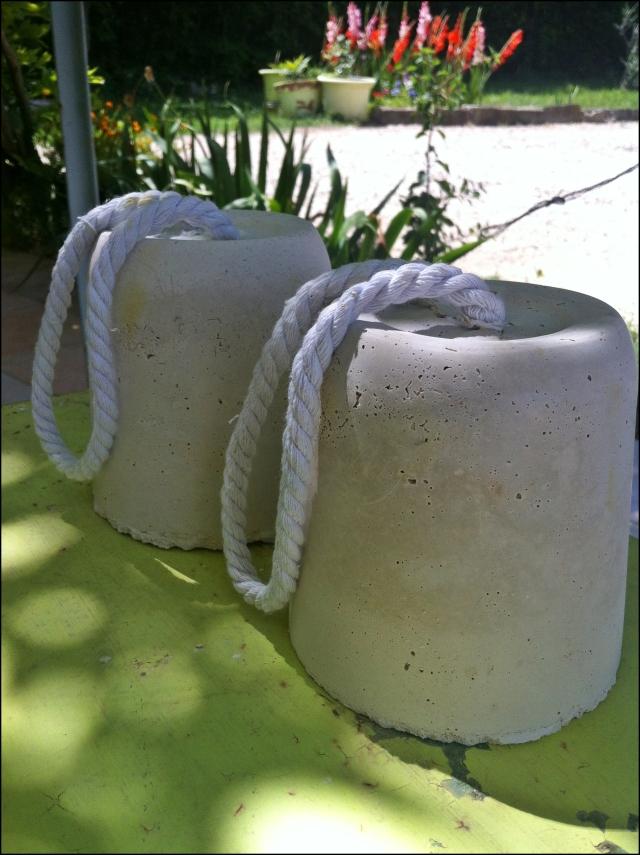 Cale-porte ciment